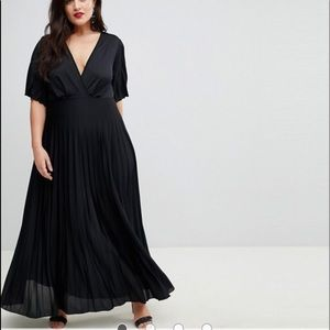 NWT ASOS DESIGN kimono dress in black